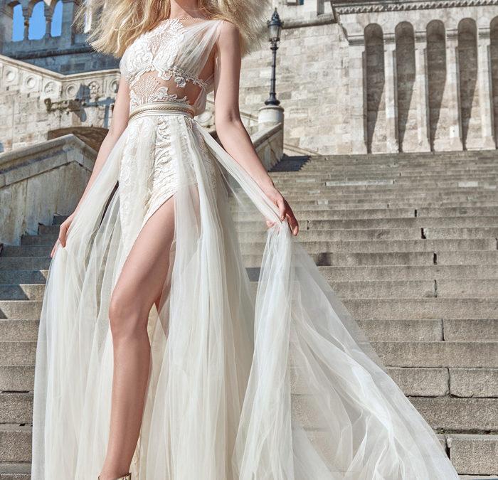 Split thigh wedding dresses