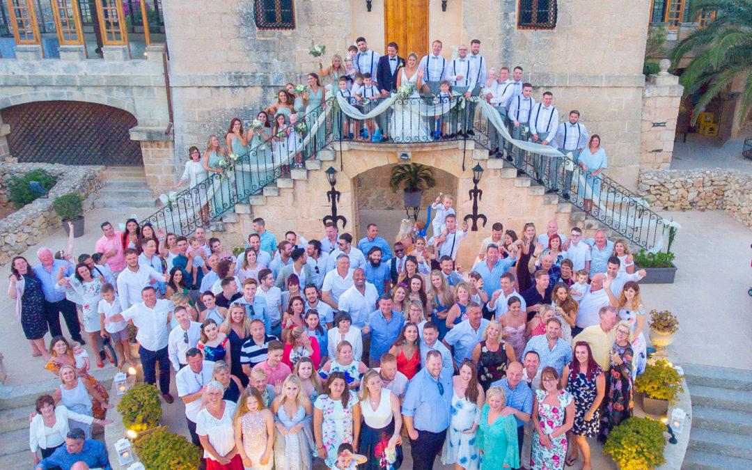 Emily & Tom's ceremony in Malta